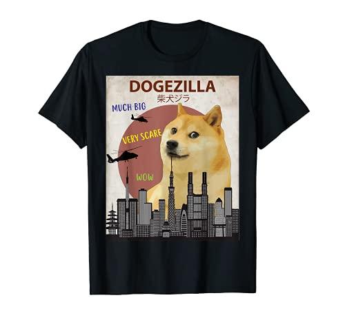 dogezilla T-Shirt   Funny Doge Meme Shiba Inu Hund Shirt