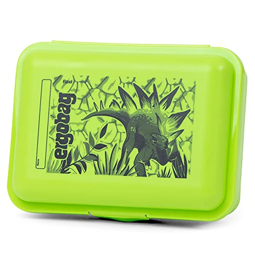 ergobag Brotdose - ergobag Brotdose mit Motiv, BPA-frei, spülmaschinenfest, Trennfach - Dino - Grün