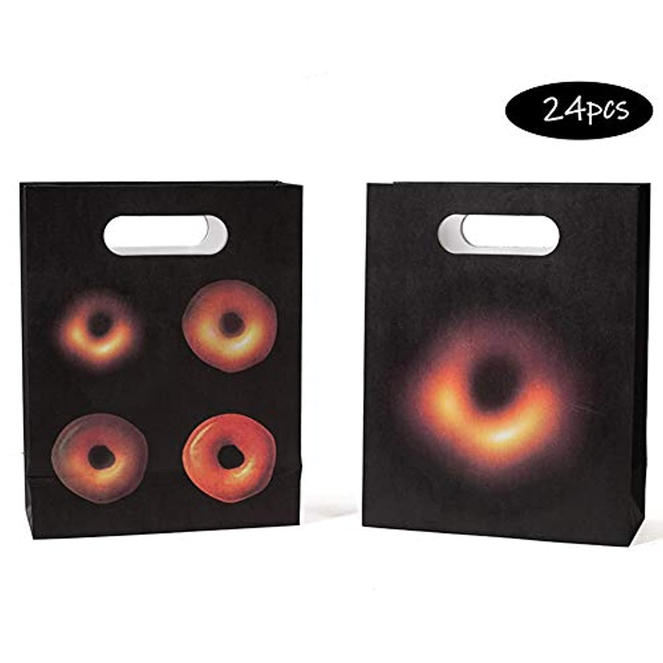 Space Party Supplies - 24 Outer Space Party Favor Bags, Black Hole Goody Bags, Loot Bags, Great for Kids Birthday Parties