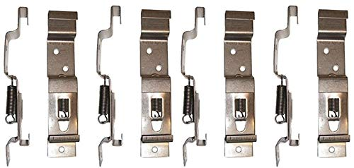 BITS4REASONS 8 X (4 PAIR) TRAILER NUMBER PLATE HOLDERS CLIPS LICENSE PLATE BRACKETS STAINLESS SPRING LOADED STEEL - STANDARD UK SIZE PLATE 11CM (110MM) DEPTH