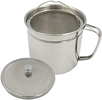 Evelots Bacon Grease Keeper Oil Storage Can 1.25 Qt