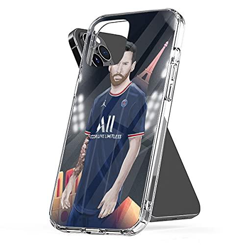 Phone Case Cover Eiffel TPU Futbol Funny 10 Waterproof Mbap-pe Clear Paris Pc Eifel P-sg France Mes-si Compatible for iPhone 6 6s 7 8 X Xs Xr 11 12 Se 2020 Pro Max Plus
