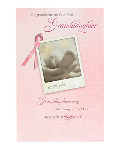 New Granddaughter Card - Congratulations Grandparent Card - New Baby C