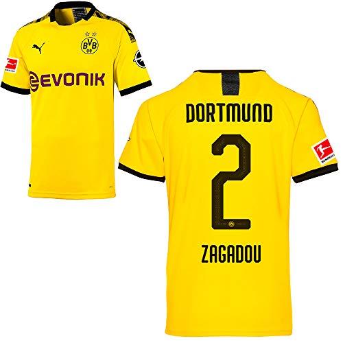 PUMA Borussia Dortmund BVB Heimtrikot 2019/20 Home Trikot Sponsor BL Logo Herren Dan-Axel Zagadou 2 Gr M