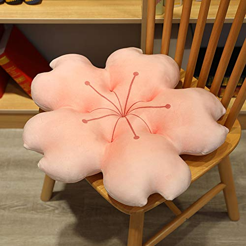 N / A Almohada de Felpa de Flor de Cerezo Creativa cojín de Flor Kawaii cojín de Flor de Cerezo Suave Realista Accesorios de Felpa 2 Colores Juguetes de Peluche 38cm