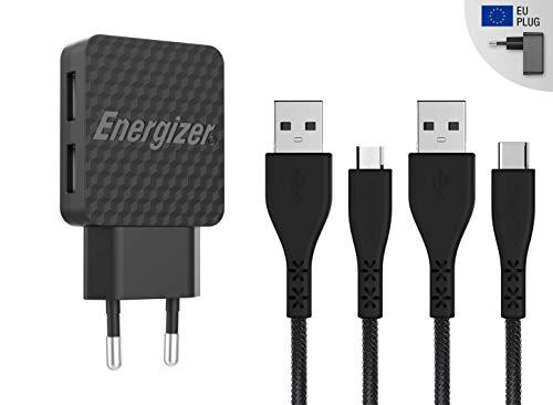 Energizer AC2BEULCMM - Cargador Sector - 2.4A - 2 USB - Ench