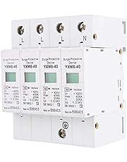 Protector contra sobretensiones, dispositivo de protección contra sobretensiones de baja tensión 4P 40KA de House House para protección contra rayos, riel Din 220V