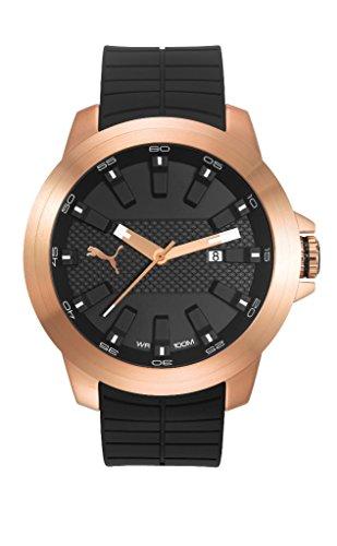 Puma PU103901005 Reloj Análogo para Hombre, Redondo, color Negro