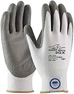 PIP Great White 3GX 19-D322 White/Gray 2XL Dyneema Cut-Resistant Gloves - EN 388 4, ANSI 3 Cut Resistance - Polyurethane Palm & Fingers Coating - 10.4 Length - 19-D322/XXL [PRICE is per PAIR]