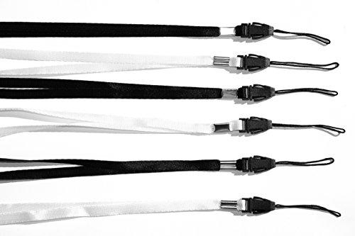 Halsband Umhängeband Trageband (6er Pack) für USB Sticks, MP3-Player, Schlüssel, Ausweis, Pfeife, Kompass