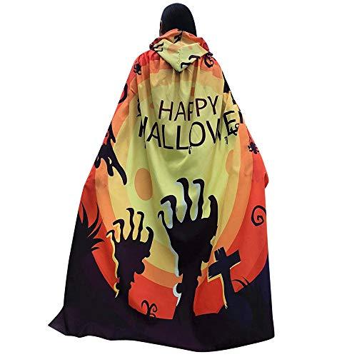JERFER Mantn Poncho Mujer Vspera de Todos los Santos Impresin de Calabaza Capa Bufanda Novedad Envolver Disfraz