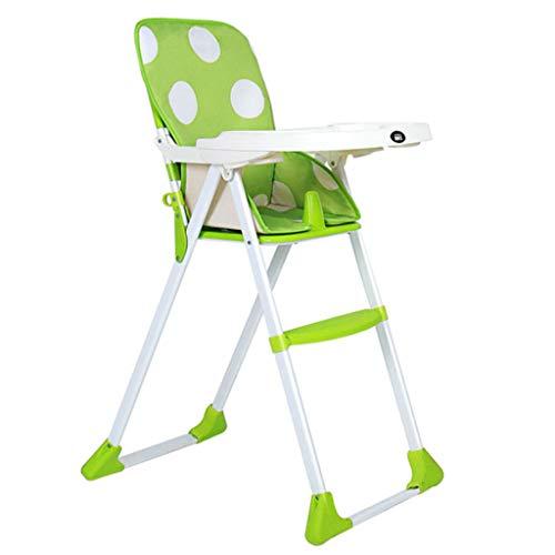 TASE verstellbar, klappbar, Baby Hochstuhl, Verstellbarer Sitz - abnehmbare Schale, wischen sauber, Bequeme Babymatte, grün.