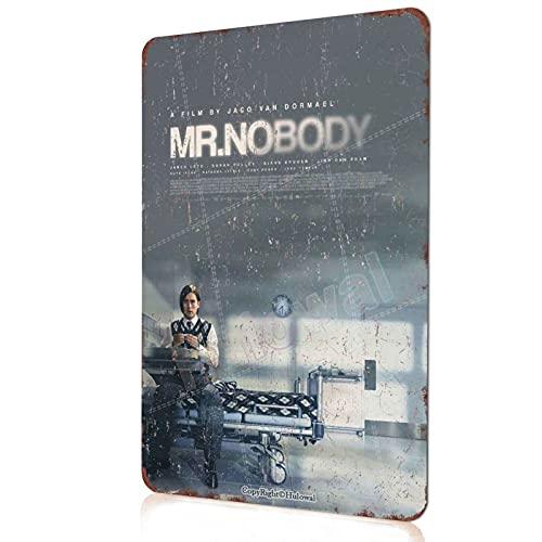ミスターノーバディクラシック映画メタルサインアメリカの看板レトロ映画ポスター映画館の部屋家の装飾バーキッチンの装飾リビングルーム映画ファンのためのギフト20X30cm