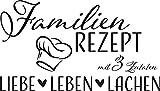 GRAZDesign Deko Wohnzimmer modern Familientattoo -