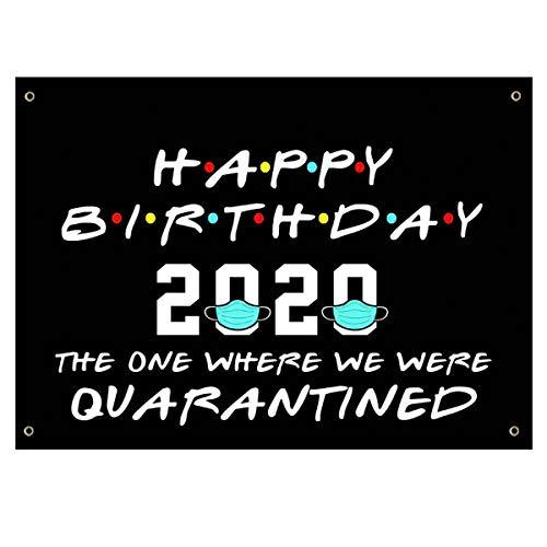 Quarantine Birthday Decorations,Quarantine Graduation 2020 Banner Sign,2020 Birthday Quarantine Banner 35''x59'' - Quarantine Grad Decorations Hanging Flags for Class of 2020 Birthday Décor - Black
