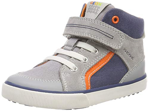 Geox Baby Jungen B Kilwi Boy C Sneaker, Grau (Grey/Avio C0493), 25 EU
