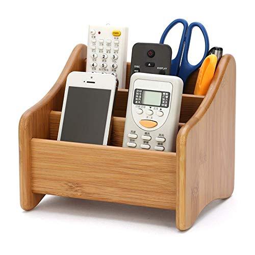 YXFYXF Organizzatore del Desktop Modrn Wood Solid Wood Control Controllo del Telefono Cellulare Supporto per Penna Penna Scatola di immagazzinaggio Multifunzione D