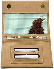 skaard Bolsa Tobacco | para Mujeres | Cuero Genuino | Cierre Magnético | Marrón Claro