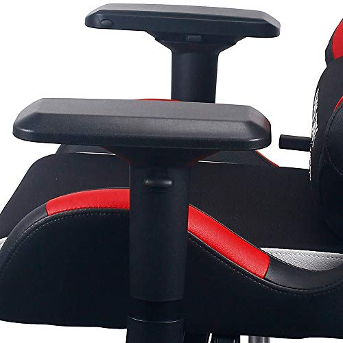 Raynor Gaming Energy Pro Series Gaming Chair Ergonomic Outlast Cooling Technology High Back Racing Style Computer Chair Adjustable Armrests Mesh and PU Leather with Lumbar and Headrest Pillow (Red)