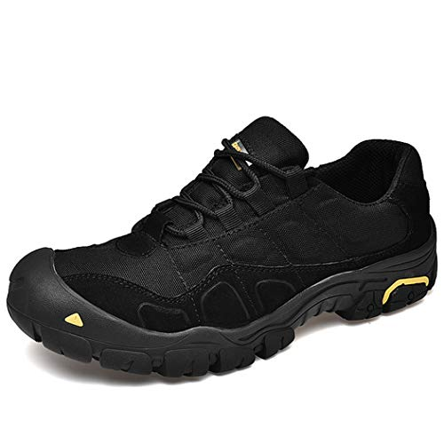 Men's Low-Top Trail Running Shoes, Breathable Hiking Shoes, Suitable for Outdoor Activities, The Best Gift for Husband,Black,42