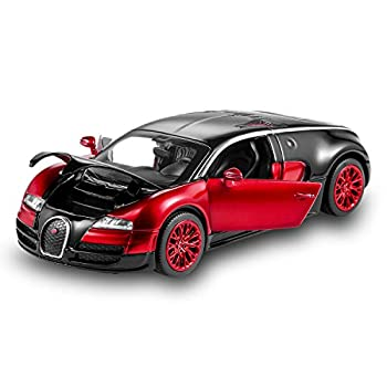 Bugatti Veyron Toy Car 1 32 Alloy Diecast Metal Model Cars for 3 to 12 Years Old Boys Red