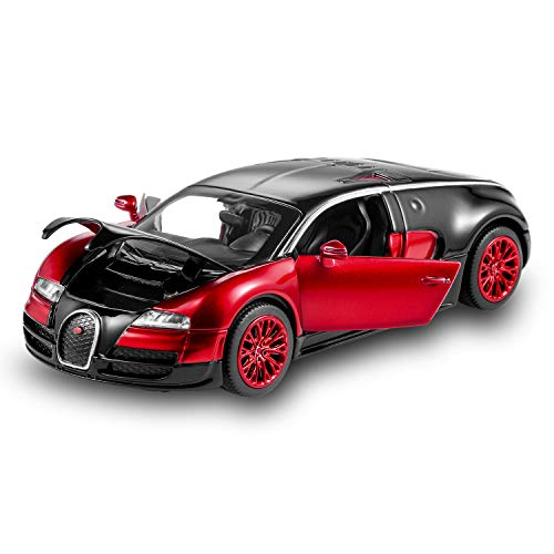 Bugatti Veyron Toy Car 1:32 Alloy Diecast Metal Model Cars for 3 to 12 Years Old Boys Red