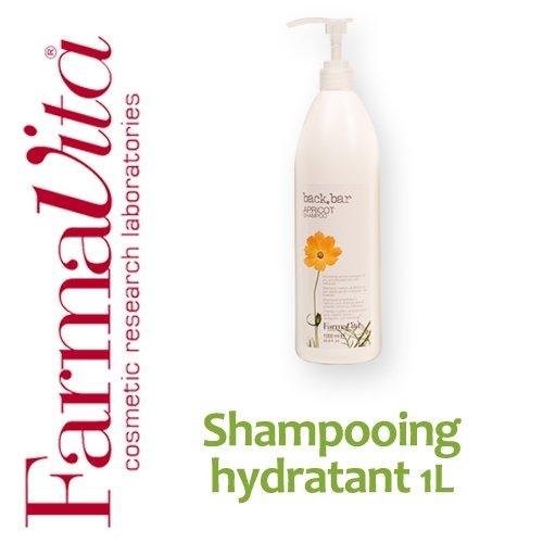 Shampooing hydratant à l'abricot FarmaVita - 1L