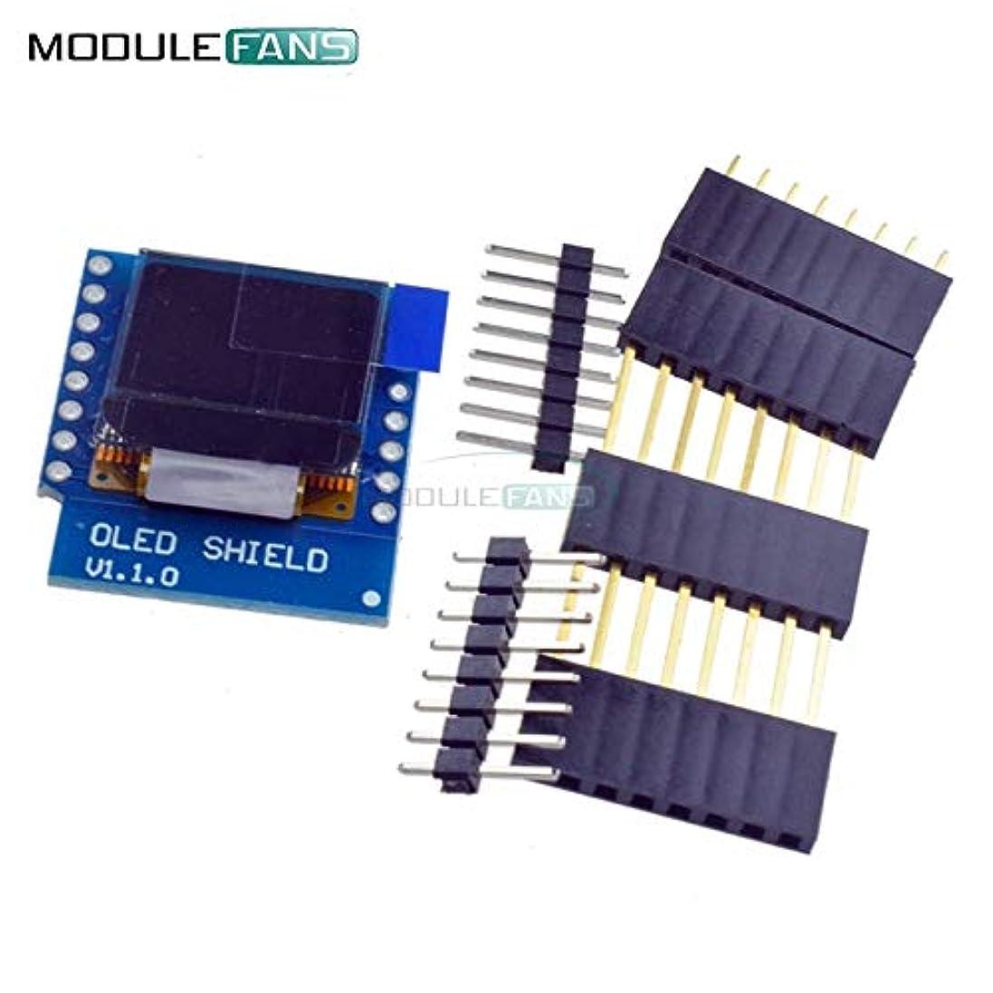 アルファベット順平均エゴマニアSSD1306 OLEDシールドWeMos D1ミニIIC I2C IOT 0.66インチ64X48 Arduino対応モジュール3.3V WeMos D1ミニ