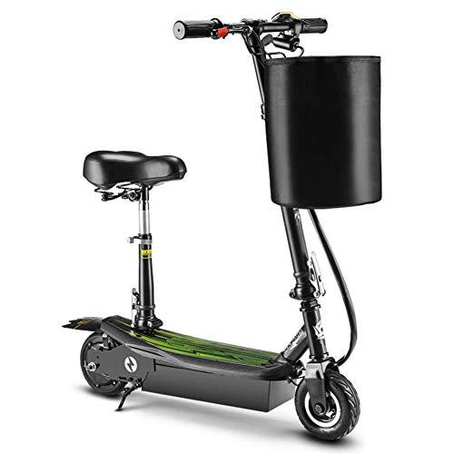 XYDDC Vespa eléctrica Plegable, 15,5 mph Cercanías E-Scooter Bicicletas hasta 198Lb, para...