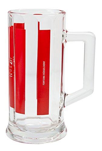 benu Glas Bierkrug, Transparent-Rot, 23075