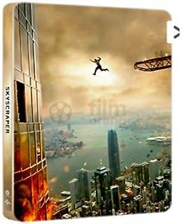 Skyscraper 3-disc set: 4K+3D+Blu-ray Limited Edition Steelbook REGION-FREE import. English Audio, Subtitles & Artwork