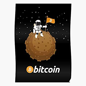 Cryptocurreny Crypto Lightcoin Moon Light Bitcoin Coin Etherum The to Best Poster Wall Art for Home Decoration 16x24 Inches