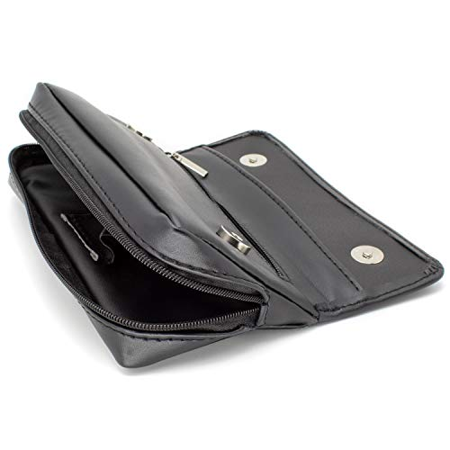 AKORD Soft Black Nappa Leather Tobacco Pouch with Rubberised Lining, 50 g