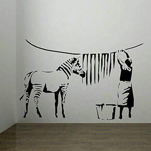 zqyjhkou Pegatina de Pared Grande Zebra Stipes Lavandería Vinilo Tatuajes de Pared Sala de Estar Decoración de Dormitorio Accesorios Decoración nórdica para el hogar 42x64cm