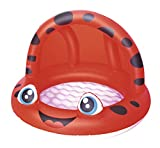 MPLMM Game Center Kinderbecken Hof Aufblasbarer Frosch Patio 97 * 66cm (39 * 28 Zoll) Kinder-Baby Pool Red
