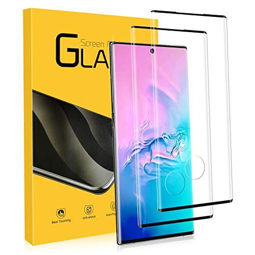 Vetro Temperato per Samsung Galaxy note 10 Plus, 2 Pezzi Durezza 9H Anti-Graffo, 3D Touch Compatibile Copertura Totale Pellicola Protettiva, Ultra-Clear Pellicola Vetro Samsung Galaxy note 10 Plus