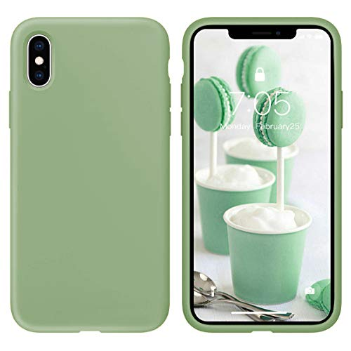 Oihxse Silicone TPU Gommage Case Compatible pour Huawei Mate 10 Coque Ultra Fine Souple Protection Housse Mignon Couleurs Bumper Étui Anti-Rayures Cover(Matcha)