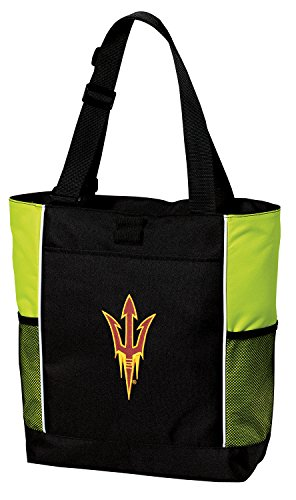 Broad Bay ASU Tote Bag Cool Lime Arizona State Totes Beach Pool Or Gym