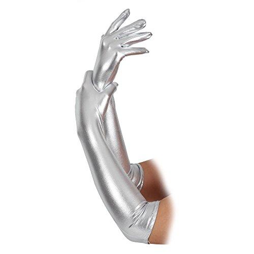 Argent (44cm) Gants Adulte Long (44cm) Accessoire pour 20s 50s 60s Déguisement
