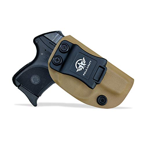 Kydex IWB Holster For Ruger LCP 380 Auto Concealed Carry - Ruger LCP 380 Holster IWB - Inside Waistband Carry Concealed Holster LCP 380 IWB Pistol Case Pouch Gun Accessories (Tan, Right Hand Draw)