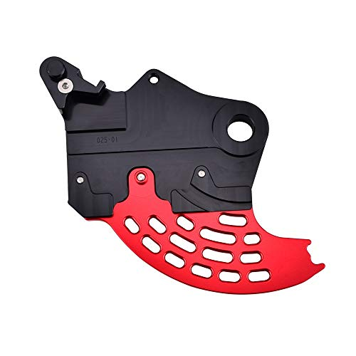 Mszhang Protector de protección del Disco de Freno Trasero CNC/Ajuste para Beta 200 250 300 350 390 400 430 450 480 500 500 RR RS 2T 4T / FIT para Enduro Racing 2013-2020 (Color : Black Red)