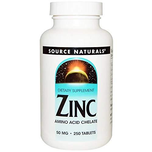 Zinc 亜鉛 Source Naturals (ソースナチュラルズ) 50mg 250タブレット [並行輸入品]