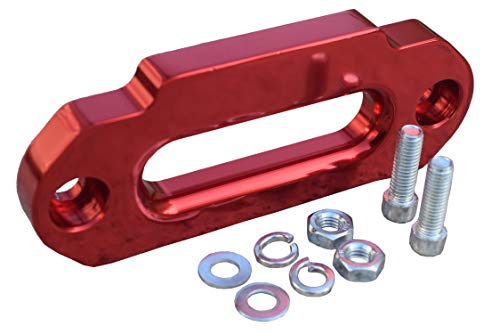 4000lbs ATV Aluminum Fairlead for Synthetic Winch Rope,Hawse Fairlead for Autos (Red)