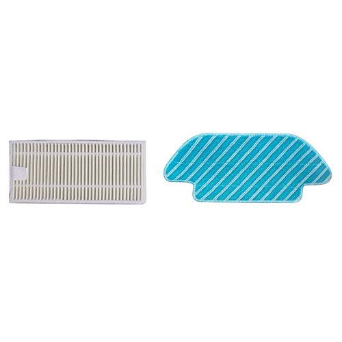 Cuasting 22 piezas de accesorios para aspiradoras: 12 piezas de repuesto lavable trapo de trapo y 10 piezas de filtro HEPA