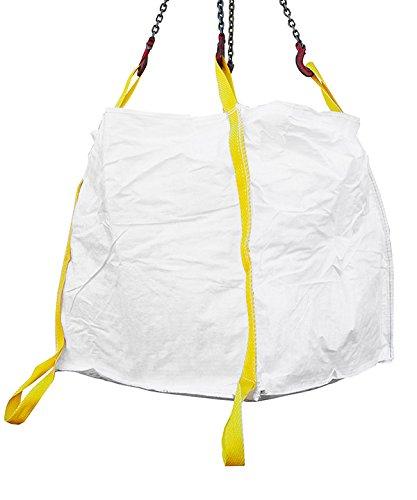Desabag 1.8013 Big Bag 90x90x90cm, 2 Bodenschlaufen, UU,OG, 1500kg, Weiss