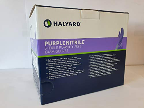 Halyard Purple Nitrile Sterile Powder - Free 50 Stk. Handschuhe Gr. S M L (L)