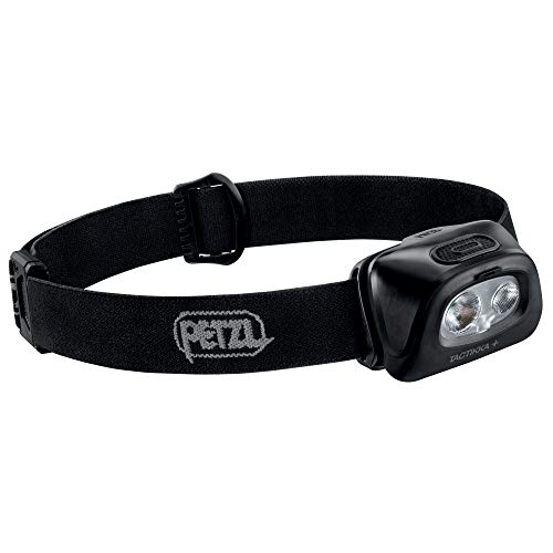 PETZL, TACTIKKA + Stealth Headlamp with 350 Lumens for Fishing and Hunting, Black