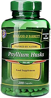 Holland & Barrett Psyllium Husks 500mg Capsules, 200 count