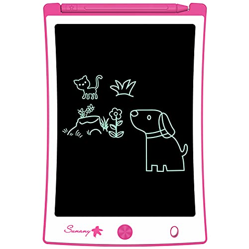 Tablette d écriture LCD 8,5  Sunany, tableau électronique d écriture et de dessin, tablette à dessin cadeau pour enfants et adultes à la maison, à l école et au bureau (Rose)