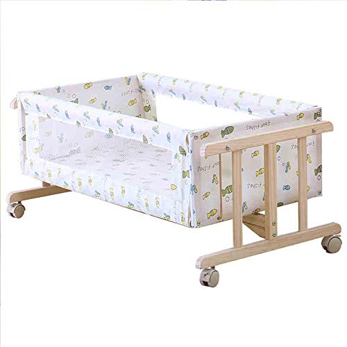 Why Should You Buy ZMXZMQ Baby Bassinet Cradle, Wooden Baby Doll Rocking Cradle, Parallel Shaking, I...
